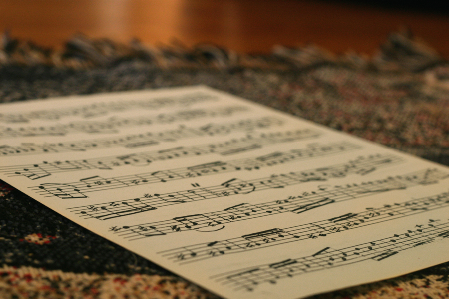 A page of sheet music
